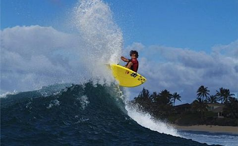 Kai Lenny, Naish Rider, Stand Up World Tour, Sunset Beach Pro 2013. Photo courtesy Waterman League.