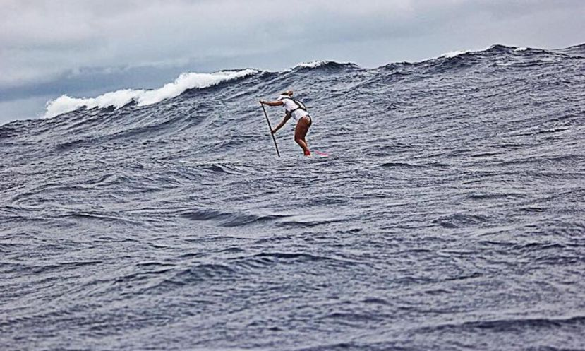 Victoria Burgess SUP surfing | Photo courtesy: Victoria Burgess