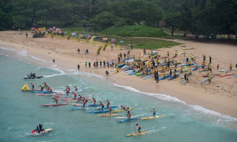 Start of the 2017 OluKai Ho'olaule'a. | Photo courtesy: OluKai