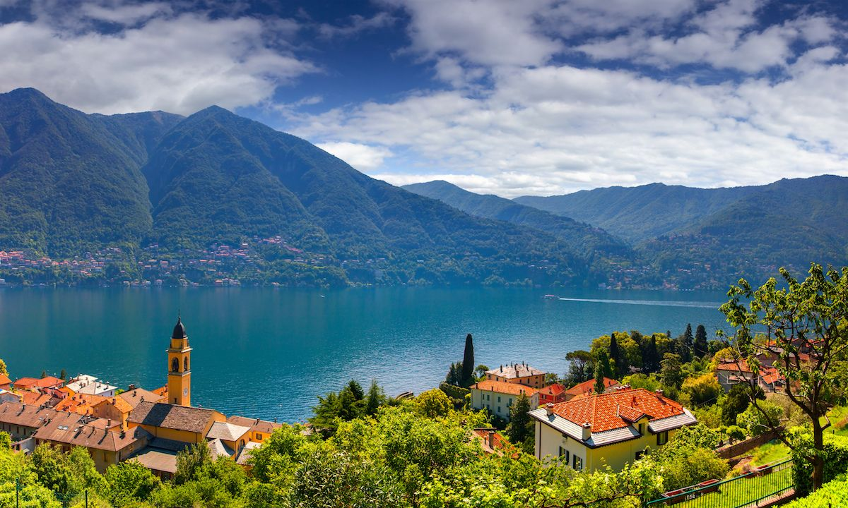 Villas and mountains surround Italy's iconic Lake Como. | Photo courtesy: Shutterstock