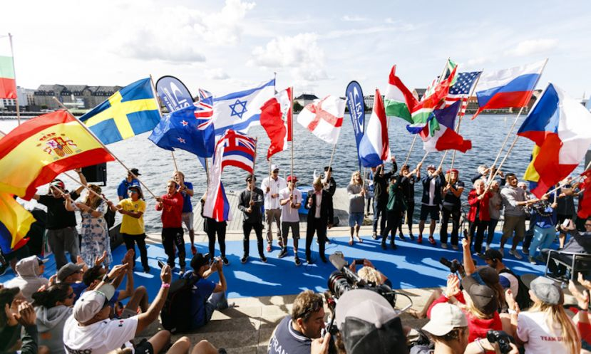 Opening ceremony at the 2017 ISA World SUP & Paddleboard Championship in Denmark. | Photo by Ben Reed / ISA