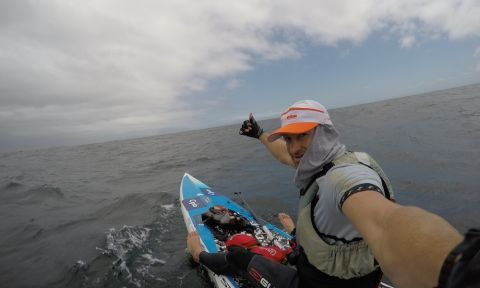 Chris Bertish will attempt the world record for most miles traveled in 24 hours in open ocean.
