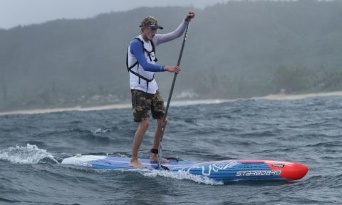 Connor Baxter takes victory in the long distance on Day 1 of the World Series Finals at Turtle Bay presented by Naish. | Photo Courtesy: Waterman League