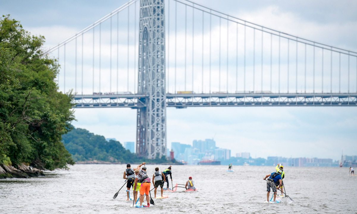 Paddling in NYC for a good cause. | Photo Courtesy: SEA Paddle NYC