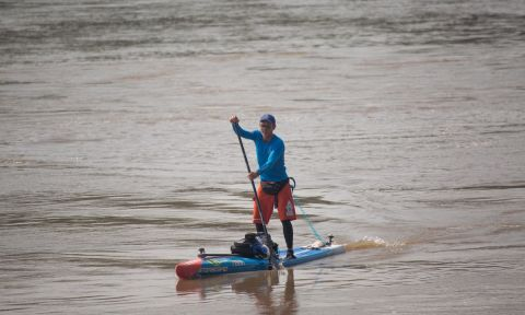 Bart de Zwart during his 340 mile paddle in the MR340 race. | Photo courtesy: Bart de Zwart