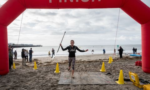 15-year-old Jade Howson takes an unexpected and commanding win at the 32nd Santa Cruz Paddlefest. | Photo: Bryon Dorr