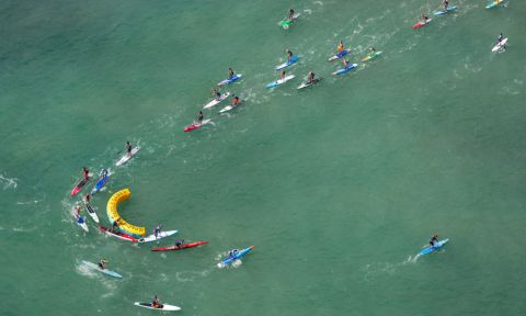 2016 Pacific Paddle Games. Men's Technical Race final. | Photo Courtesy: Pacific Paddle Games
