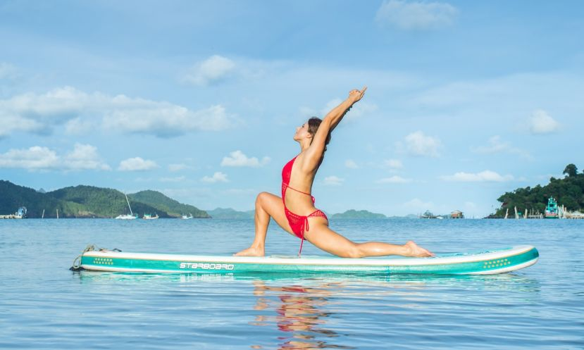 Dashama Gordon, SUP Yoga professional.