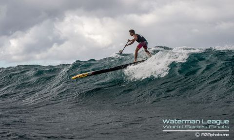 Spectacular conditions see Maui's own Kai Lenny take the overall win at the World Series Finals after a weekend of world class racing. | Photo: Waterman League / 808photo.me