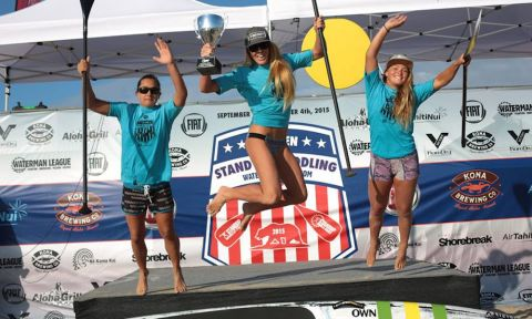 Kai Lenny & Candice Appleby Win SUP US Open; Candice Secures 2015 World Series Title