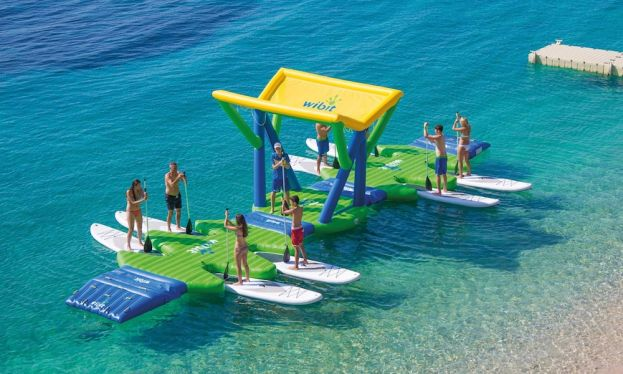 An on-water parking area for SUPs, the SUP DockingStation debuts as an innovative storage solution that is fun and inviting to SUP users