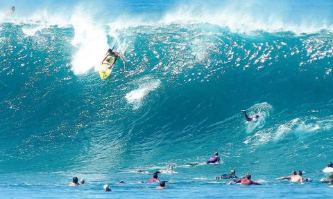 Mo Freitas at Pipeline. | Photo Courtesy: Waterman League