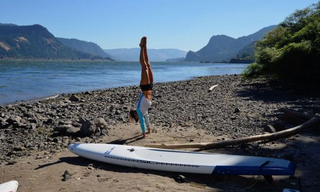 Seychelle preparing for a day on the water in Hood River, Oregon. | Photo courtesy: SIC Maui