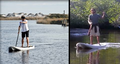 Kayak-Board Hybrid, New SUP Design