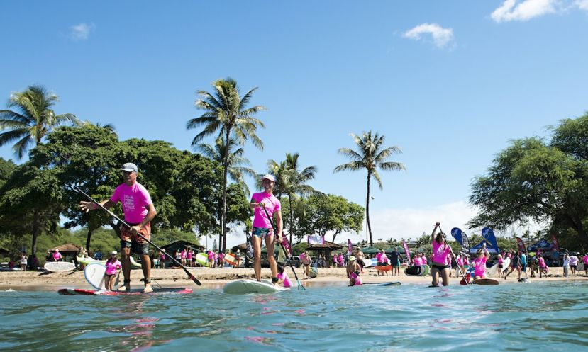 Maui's Paddle for a Cure event raised $36,000 for the Susan G Komen Foundation of Hawaii!