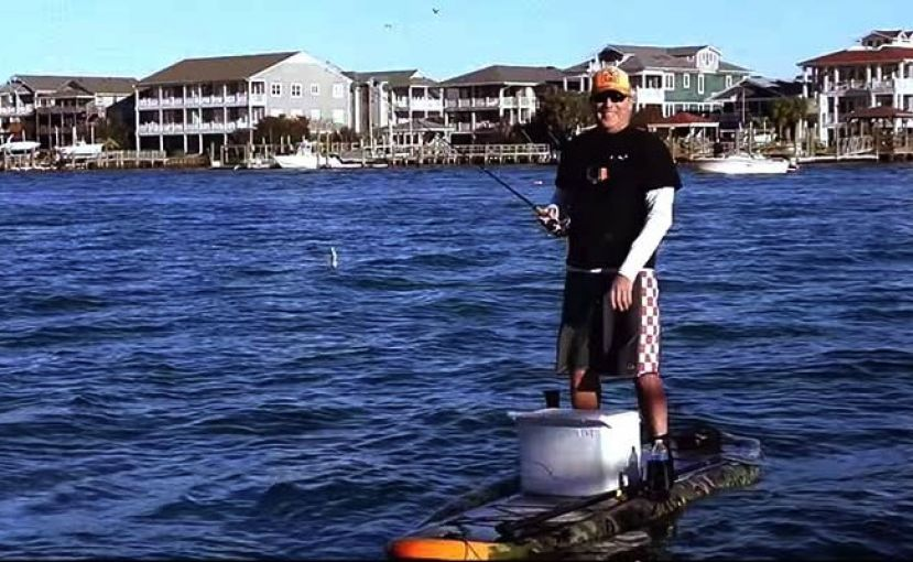 Haywood Newkirk SUP Fishing on the Hobie Sportsman