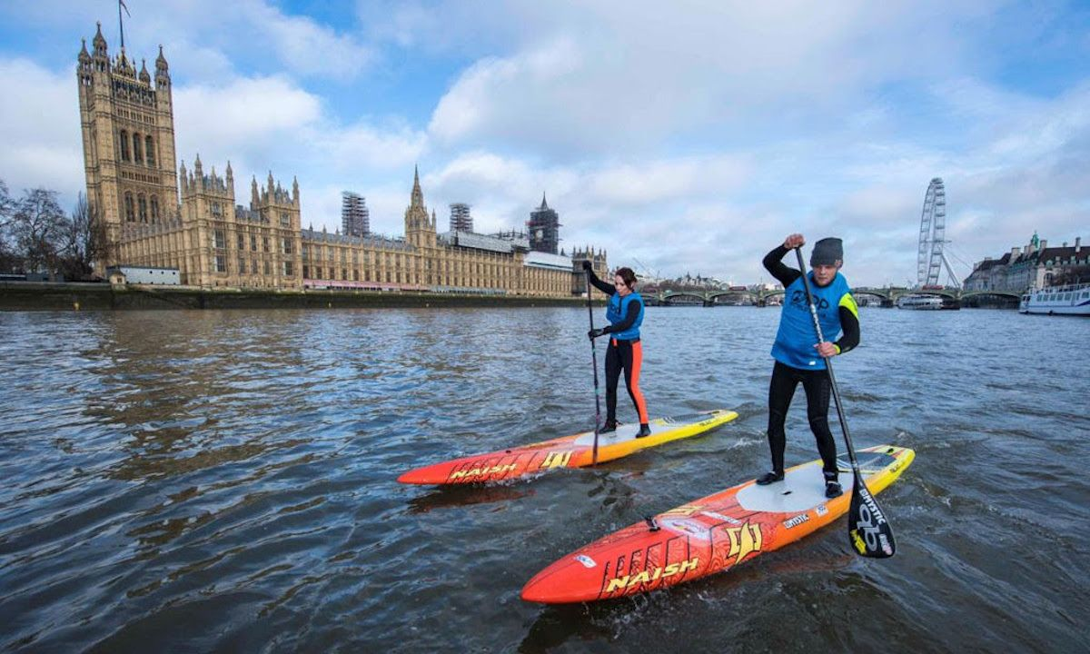 The world's best SUP racers will take to the waters of River Thames at the APP's London SUP Open July 7-8. Photo: APP World Tour
