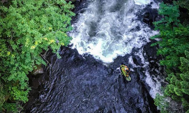 Badfish team rider Britany Parker is a master at running whitewater on her SUP. | Photo Courtesy: Badfish SUP