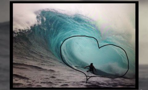 Kai Lenny's Heart-Shaped Pit At Jaws