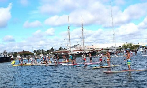 The Newport SUP Cup is a family fun standup paddle race for a great cause based at the historic Newport Shipyard.