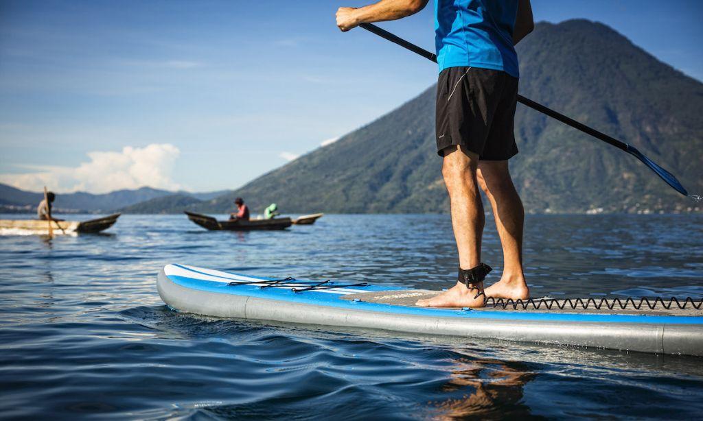 Paddleboarding Lake Atitlán, Guatemala