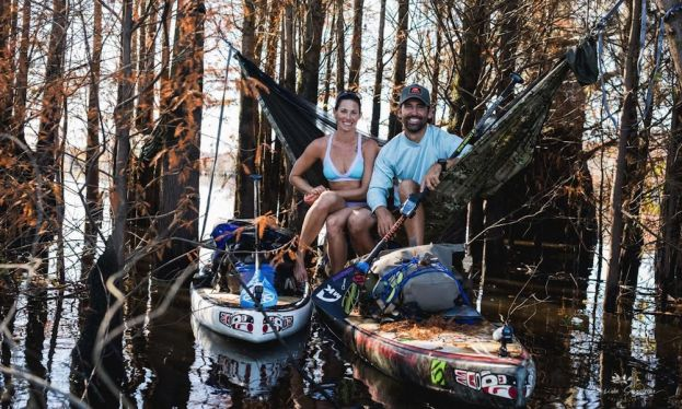Jessica Cichra and Gabriel Gray camping along the Apalachicola River. | Photo: Desireé Gardner