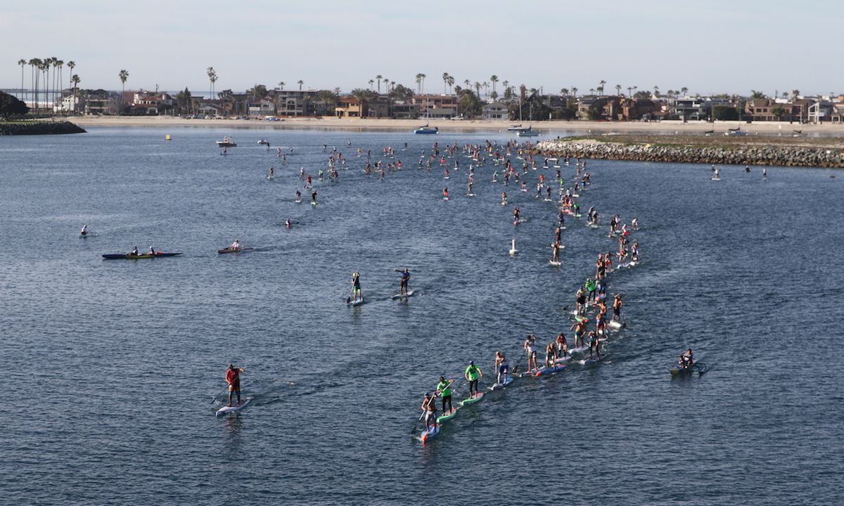 Hundreds of paddlers take to Mission Bay for the 2019 Hanohano. | Photo: Supconnect.com