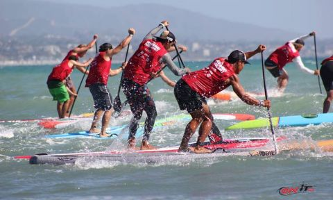 Racers at the start of the Pacific Paddle Games. | Photo: OnitPro