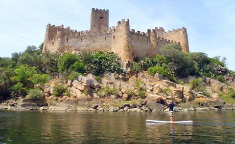Paddle Boarding Medieval Castles, Obidos, Portugal