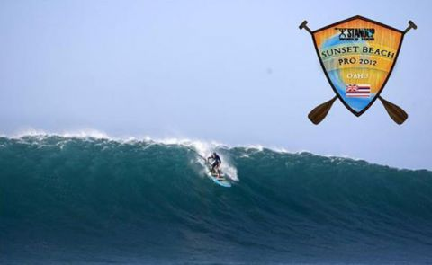 Boardworks' Elite SUP team rider, Slater Trout, making his way down the line on his infinity board.