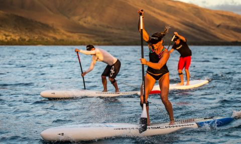 SIC Maui athletes Seychelle, Jeremy Riggs, and Tamas Buday riding in Maui. | Photo courtesy: SIC Maui