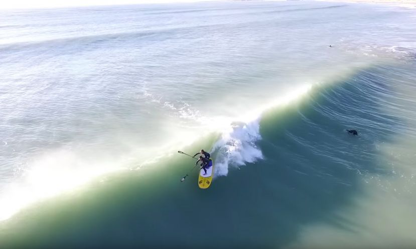 Bouyer Brothers SUP Tandem Surfing In France