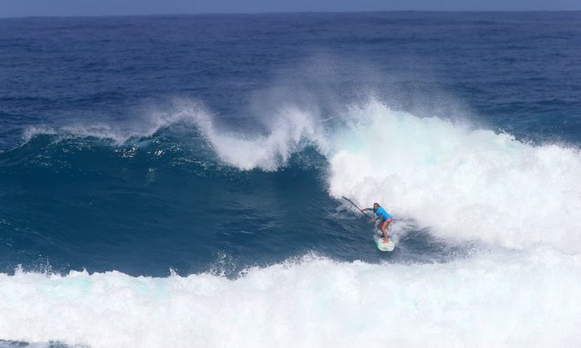 Izzi Gomez Shredding Hawaiian Waters