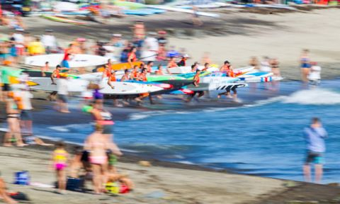 Yesterday's action was an exciting blur. | Photo Courtesy: Pacific Paddle Games