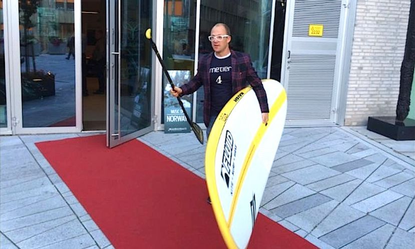 Aksel Kolstead is a SUP enthusiast who has helped to jumpstart the SUP movement in Norway.