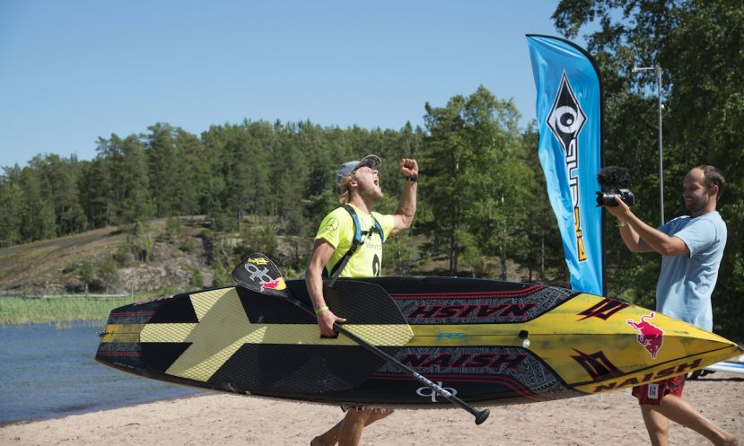 Casper Steinfath put on a dominant performance in the Long Distance Race on Day 1 of the 2015 Sieravuori Masters, Stop #2 of the European Cup. | Photo: Waterman League / Elmeri Elo
