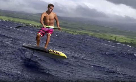 Kai Lenny introduces his new favorite way of doing a downwinder...on his hydrofoil SUP!