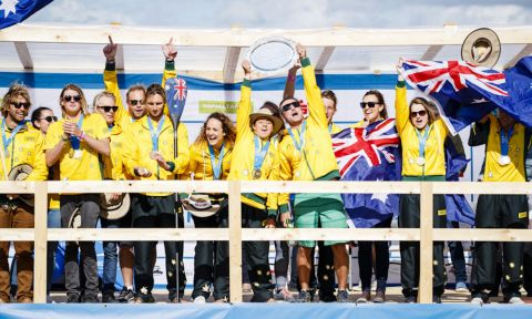 Team Australia does it again! This year they take home their 5th team Gold Medal. | Photo: ISA / Ben Reed