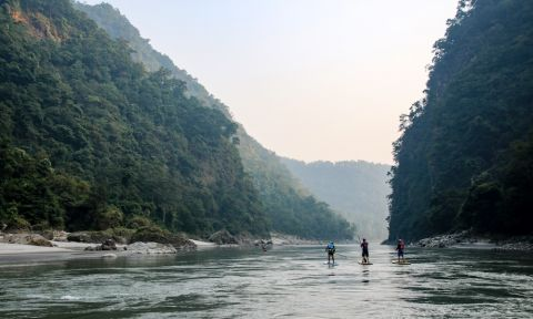 Paddlers embark on a journey through the Kali Gandaki. | Photo courtesy: Water Skills Academy