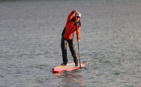 An Ocean Rodeo Dry Suit In Action