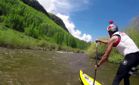Kai Lenny GoPro Mountain Games SUP Sprint Preview