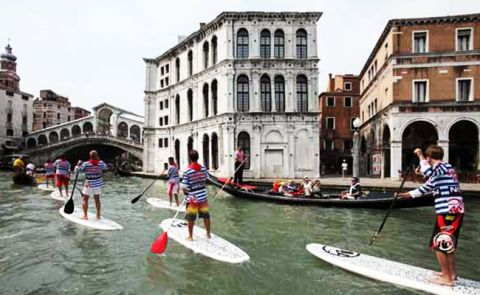 Paddle Boarding Venice, Italy