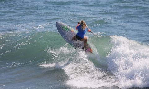 Izzi Gomez Wins 2nd World Title At US Open Of SUP