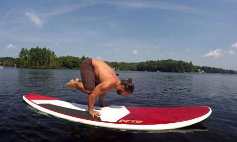 Jeramie Vaine doing SUP yoga | Photo courtesy: Jeramie Vaine