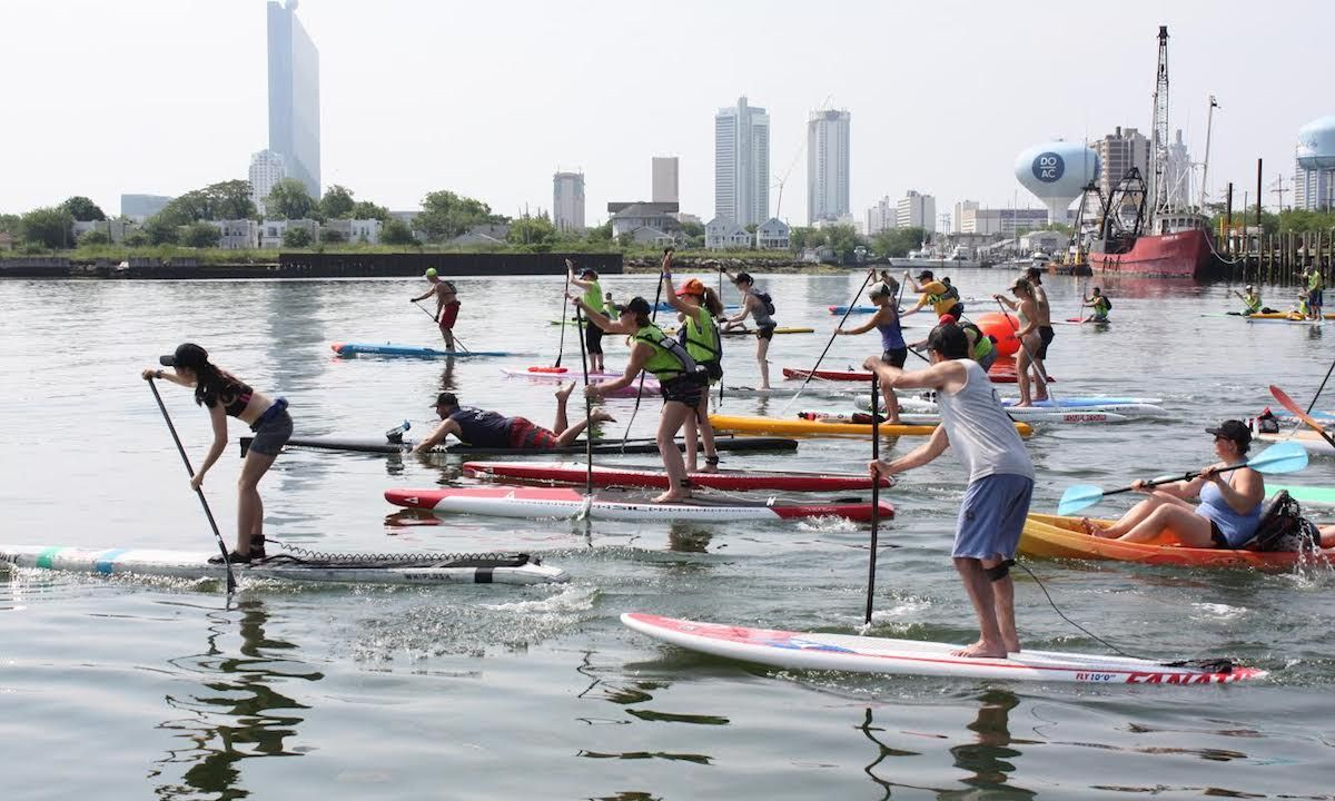 Paddlers participate in the 11th annual Paddle For A Cause at Frank S. Farley State Marina at Golden Nugget Atlantic City.