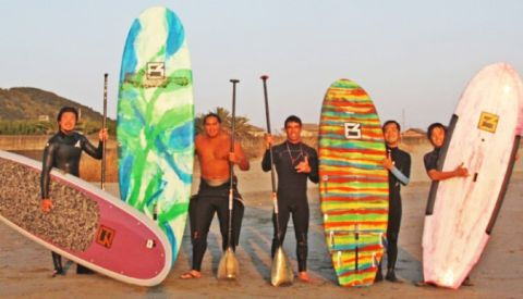 SUP Surf Contest in Haifa, Israel