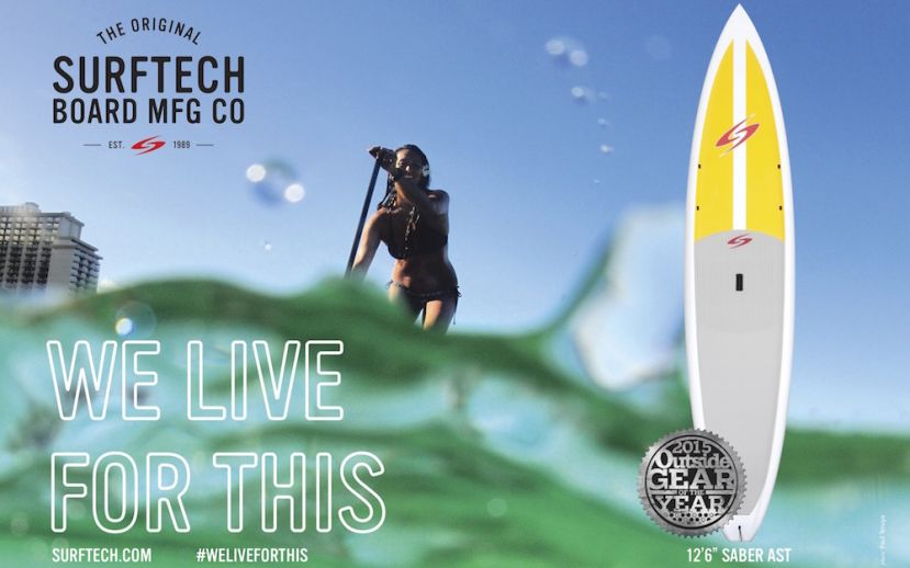 Surftech's Saber SUP wins Gear of the Year in Outside Magazine