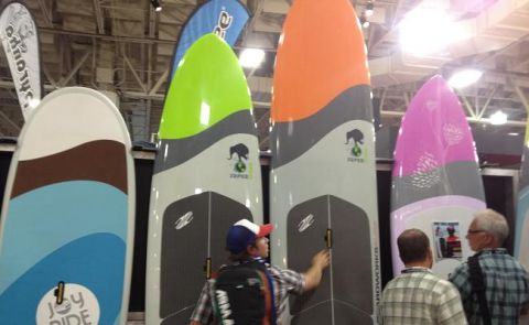 Variety of New SUP Boards at Outdoor Retailer 2012