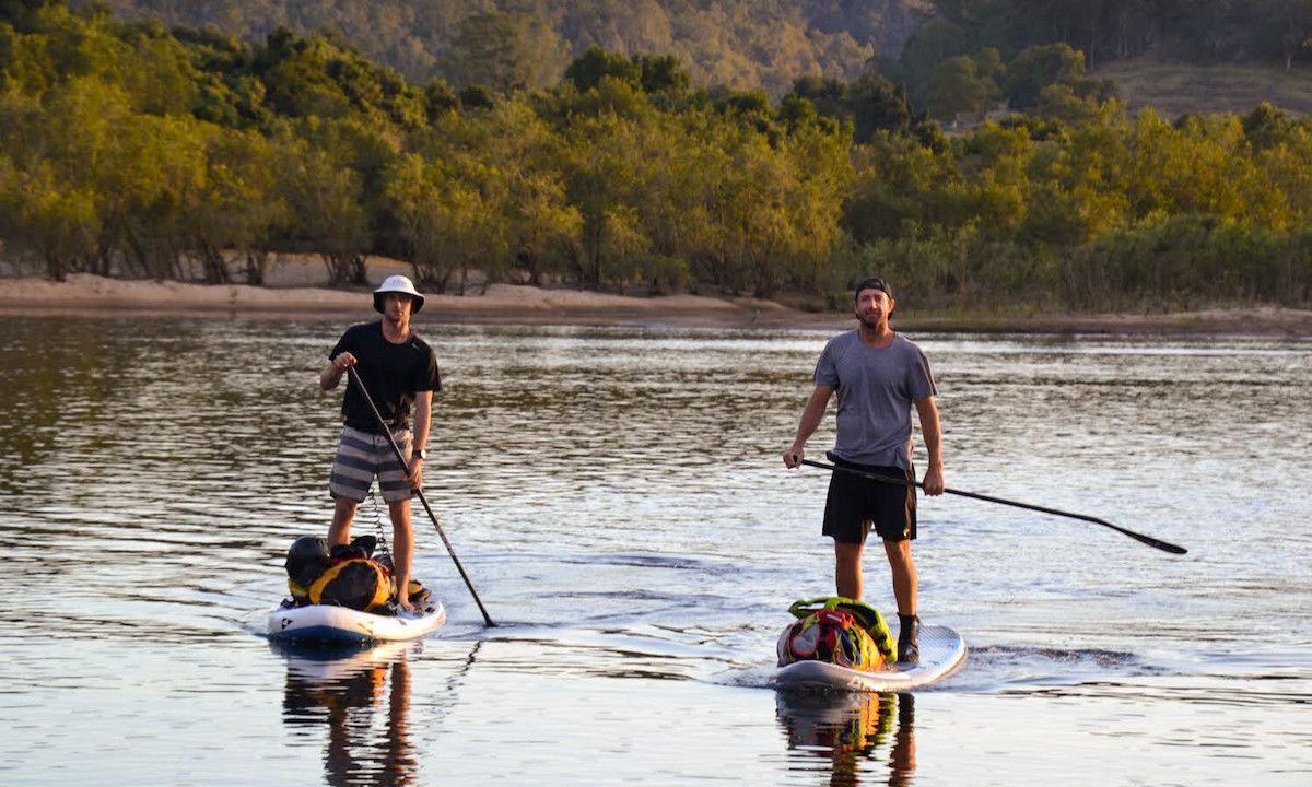 Lincoln Dews (left) and Nick Ray (right) on their expedition down the Nymboida River in Australia. | Photo courtesy: SIC Maui