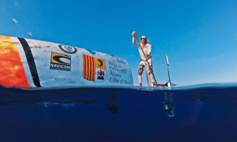 Nicolas Jarossay during a practice run on his vessel. | Photo: © Septentrion Environnement